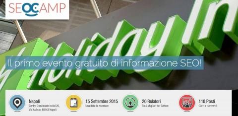 Relatore al Seo Camp a Napoli a settembre 2015