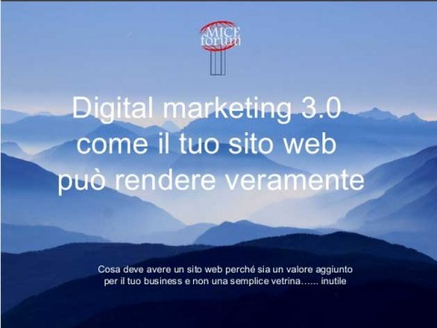 Sito web efficace: Mice Forum Bergamo 2016